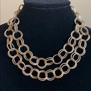 Betsey Johnson double gold chain.